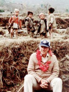 Edmund Hillary in Bung