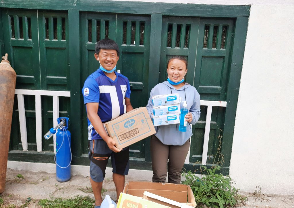 COVID supplies to the people of Solukhumbu district