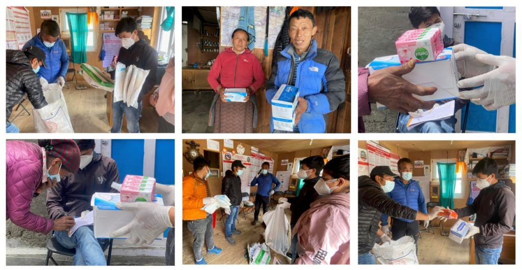 THE PARTNERS NEPAL SUPPORTED COVID-19 SUPPLIES TO THE MOUNTAIN COMMUNITIES IN 2020-2021