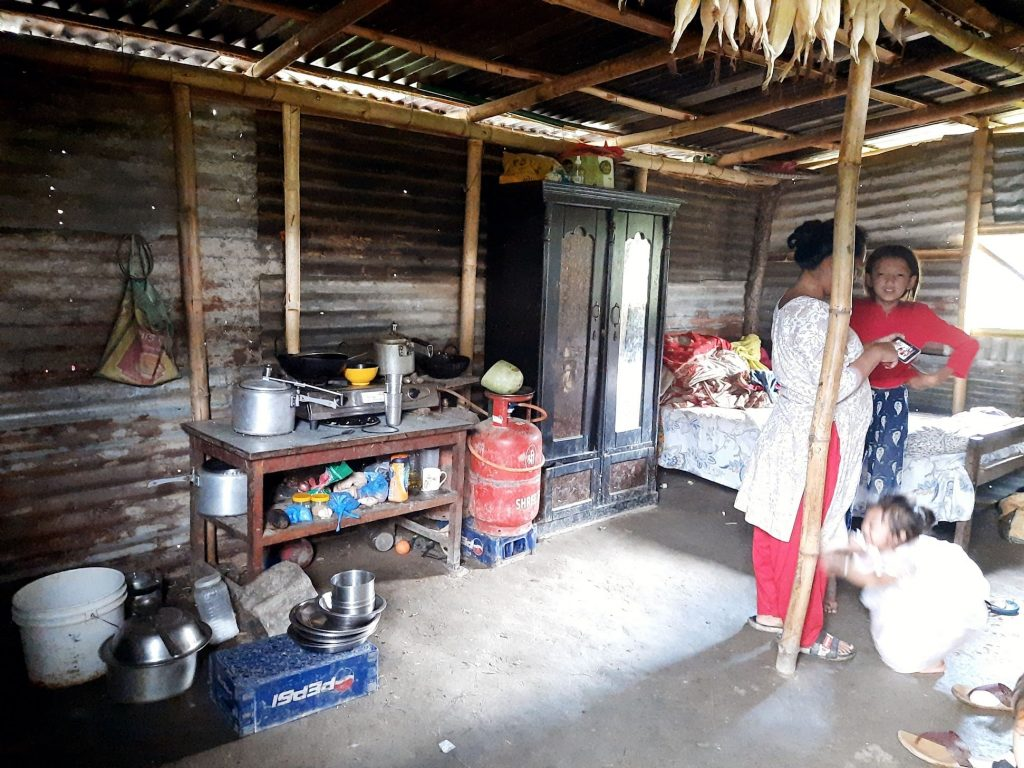 THE PARTNERS NEPAL SUPPORTED THE DISADVANTAGED BHUJEL FAMILY IN SUNDAKHANI IN KATHMANDU